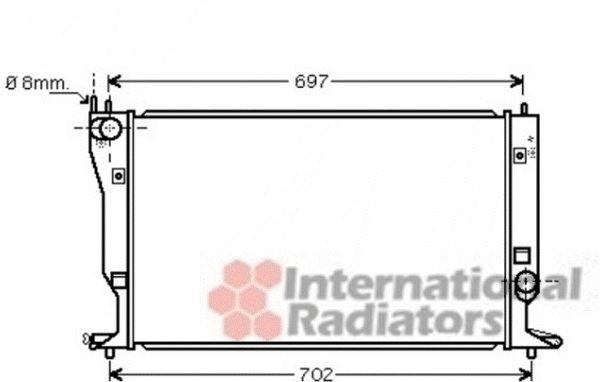 Radiateur, refroidissement du moteur - VAN WEZEL - 53002398