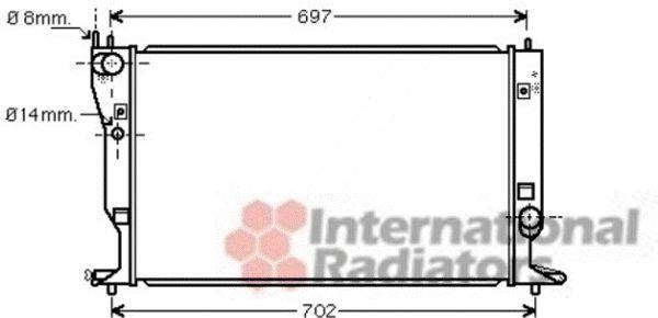 Radiateur, refroidissement du moteur - VAN WEZEL - 53002399