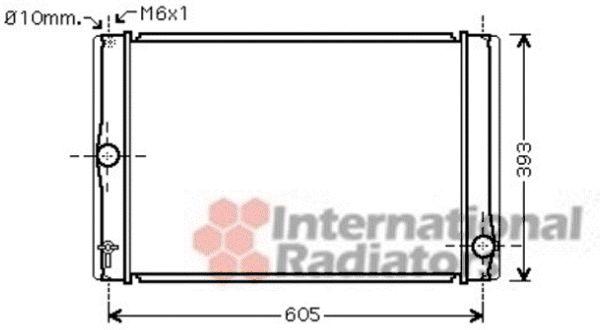 Radiateur, refroidissement du moteur - VAN WEZEL - 53002400