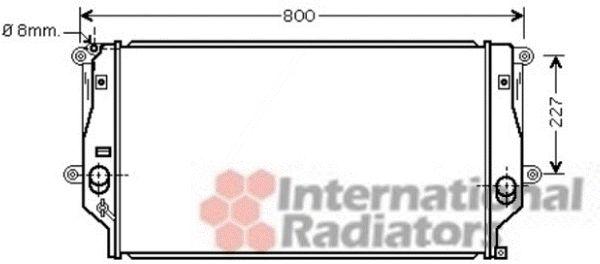 Radiateur, refroidissement du moteur - VAN WEZEL - 53002401