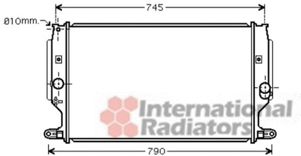 Radiateur, refroidissement du moteur - VAN WEZEL - 53002402