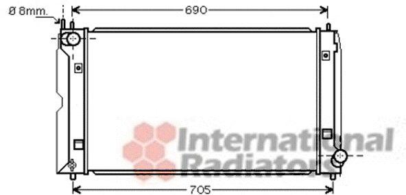 Radiateur, refroidissement du moteur - VAN WEZEL - 53002403