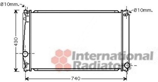 Radiateur, refroidissement du moteur - VAN WEZEL - 53002418