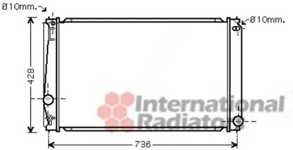 Radiateur, refroidissement du moteur - VAN WEZEL - 53002419