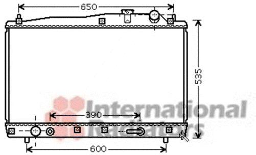 Radiateur, refroidissement du moteur - VAN WEZEL - 53002428
