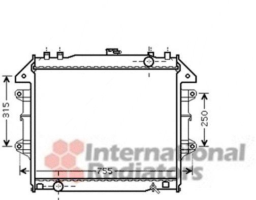 Radiateur, refroidissement du moteur - VAN WEZEL - 53002430
