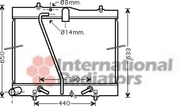 Radiateur, refroidissement du moteur - VAN WEZEL - 53002433