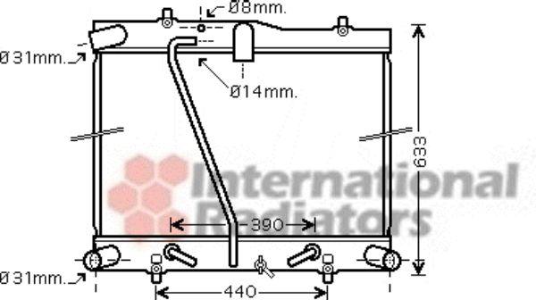 Radiateur, refroidissement du moteur - VAN WEZEL - 53002434