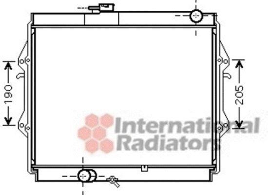 Radiateur, refroidissement du moteur - VAN WEZEL - 53002436