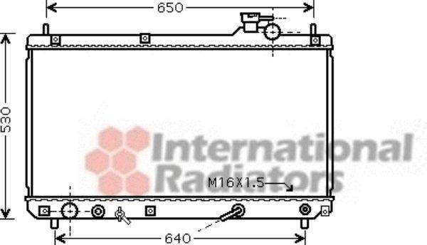Radiateur, refroidissement du moteur - VAN WEZEL - 53002457