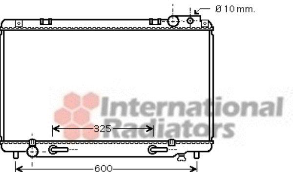 Radiateur, refroidissement du moteur - VAN WEZEL - 53002458