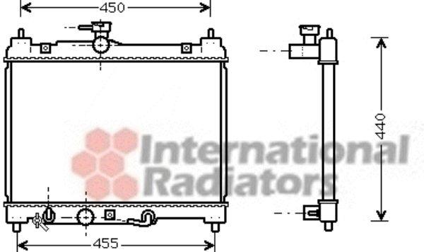 Radiateur, refroidissement du moteur - VAN WEZEL - 53002459