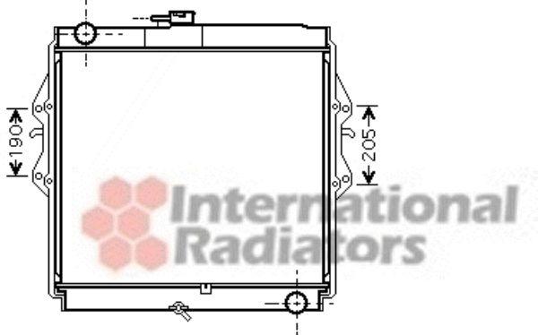 Radiateur, refroidissement du moteur - VAN WEZEL - 53002460