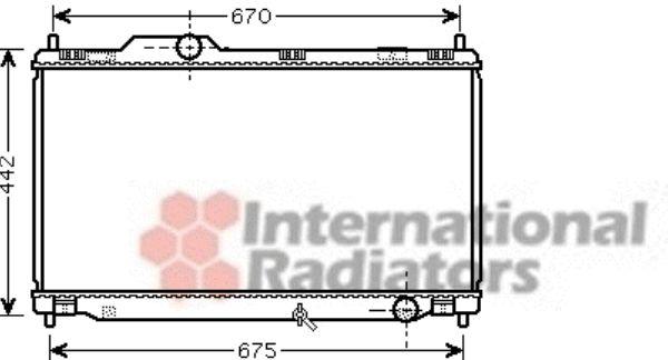 Radiateur, refroidissement du moteur - VAN WEZEL - 53002461