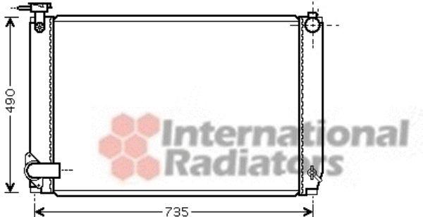 Radiateur, refroidissement du moteur - VAN WEZEL - 53002462