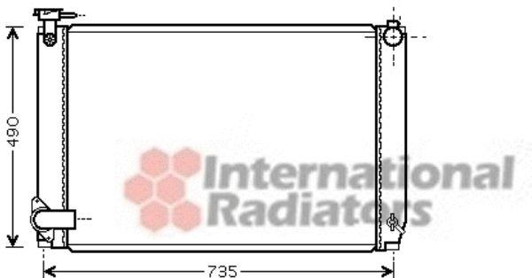 Radiateur, refroidissement du moteur - VAN WEZEL - 53002463
