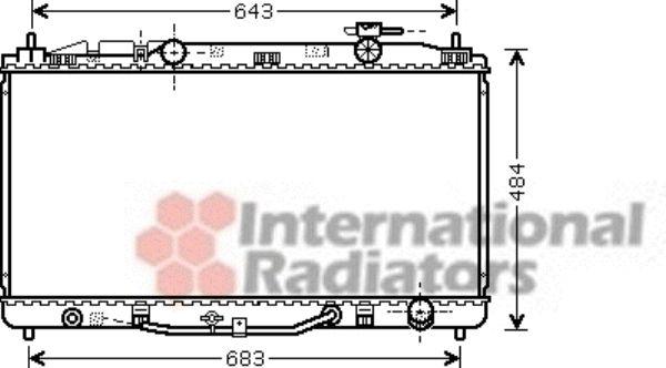 Radiateur, refroidissement du moteur - VAN WEZEL - 53002464