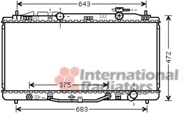Radiateur, refroidissement du moteur - VAN WEZEL - 53002473