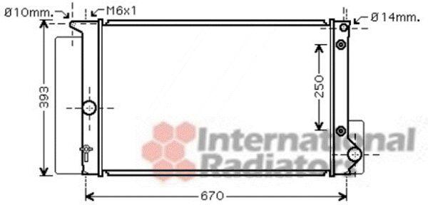 Radiateur, refroidissement du moteur - VAN WEZEL - 53002474