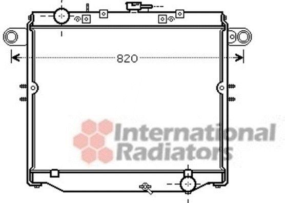 Radiateur, refroidissement du moteur - VAN WEZEL - 53002477