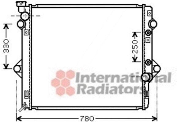 Radiateur, refroidissement du moteur - VAN WEZEL - 53002478
