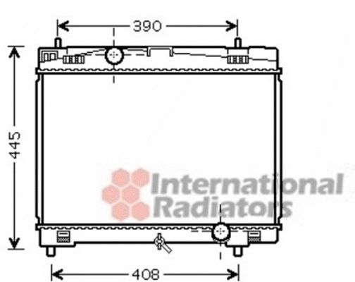 Radiateur, refroidissement du moteur - VAN WEZEL - 53002482