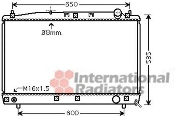 Radiateur, refroidissement du moteur - VAN WEZEL - 53002486