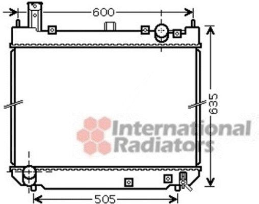 Radiateur, refroidissement du moteur - VAN WEZEL - 53002488