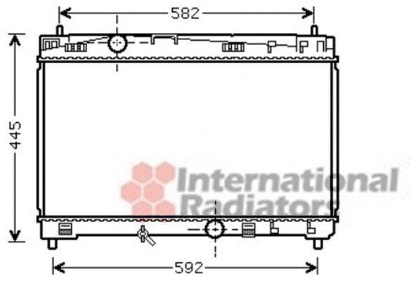Radiateur, refroidissement du moteur - VAN WEZEL - 53002489