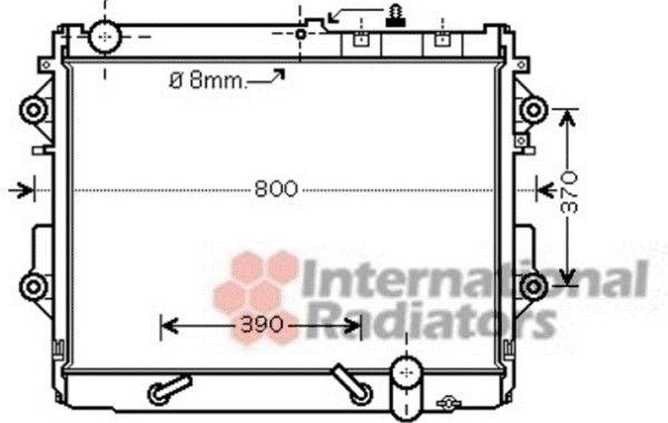 Radiateur, refroidissement du moteur - VAN WEZEL - 53002490