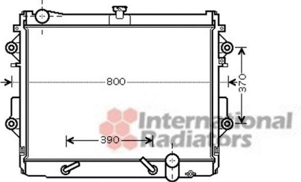 Radiateur, refroidissement du moteur - VAN WEZEL - 53002491