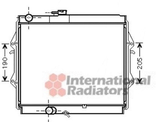Radiateur, refroidissement du moteur - VAN WEZEL - 53002492