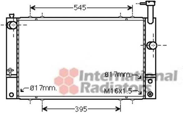Radiateur, refroidissement du moteur - VAN WEZEL - 53002494