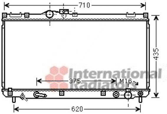 Radiateur, refroidissement du moteur - VAN WEZEL - 53002556