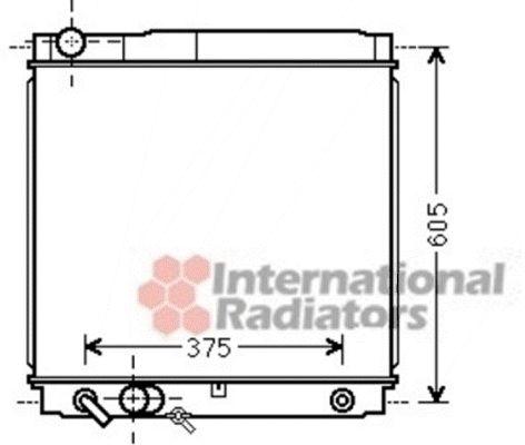 Radiateur, refroidissement du moteur - VAN WEZEL - 53002561