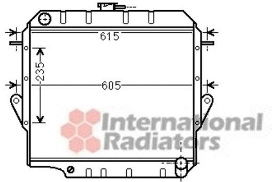 Radiateur, refroidissement du moteur - VAN WEZEL - 53002571