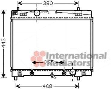 Radiateur, refroidissement du moteur - VAN WEZEL - 53002577