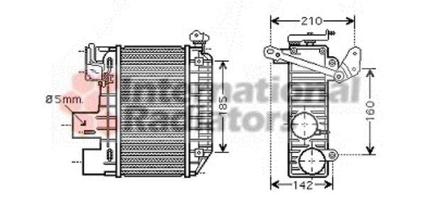 Intercooler, échangeur - VAN WEZEL - 53004365