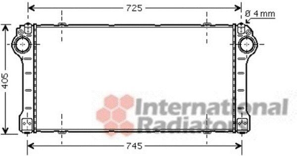 Intercooler, échangeur - VAN WEZEL - 53004476