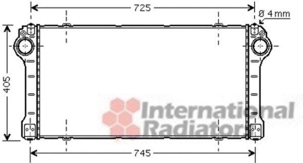 Intercooler, échangeur - VAN WEZEL - 53004565