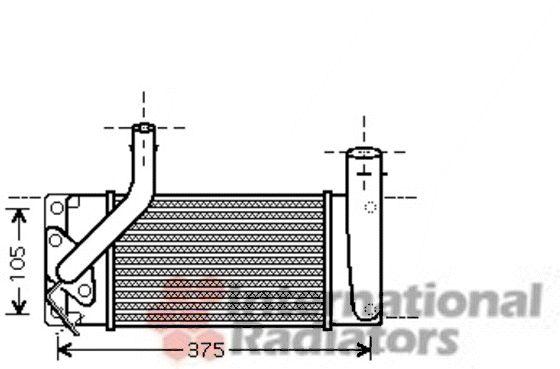 Intercooler, échangeur - VAN WEZEL - 53004566