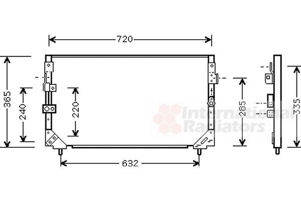 Condenseur, climatisation - VAN WEZEL - 53005006