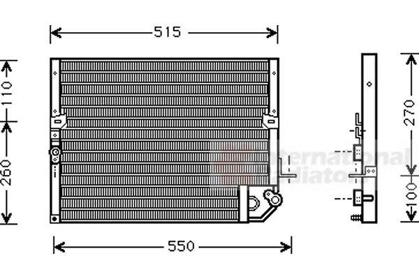 Condenseur, climatisation - VAN WEZEL - 53005118
