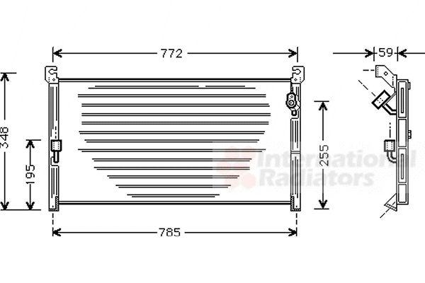 Condenseur, climatisation - VAN WEZEL - 53005130
