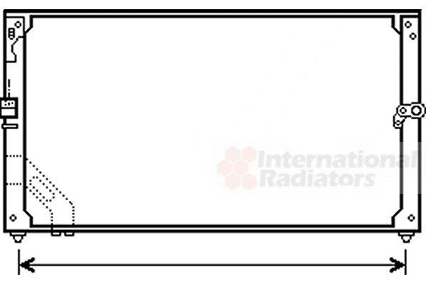 Condenseur, climatisation - VAN WEZEL - 53005166