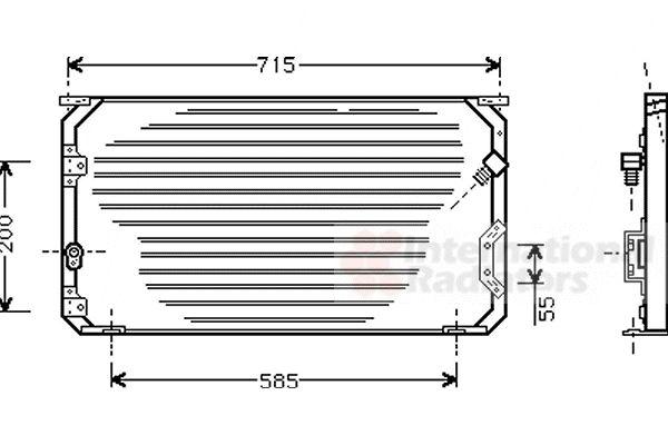 Condenseur, climatisation - VAN WEZEL - 53005190