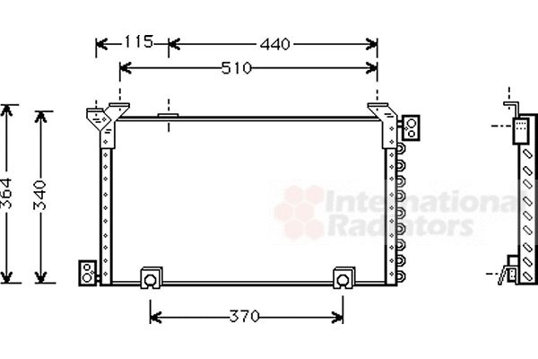 Condenseur, climatisation - VAN WEZEL - 53005194