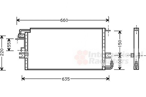 Condenseur, climatisation - VAN WEZEL - 53005197