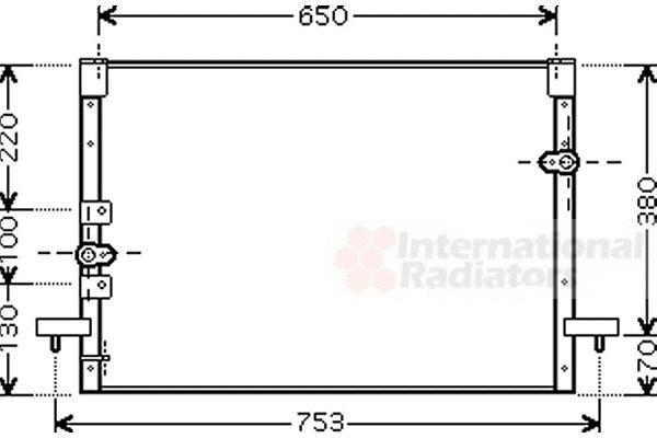 Condenseur, climatisation - VAN WEZEL - 53005199