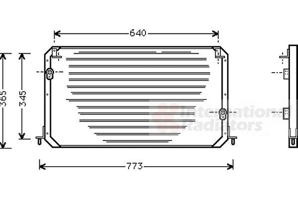 Condenseur, climatisation - VAN WEZEL - 53005224